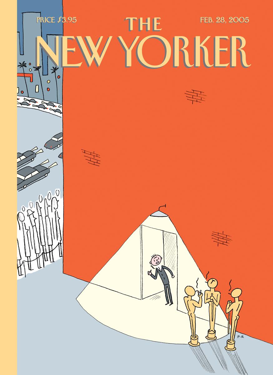 ニューヨーカーの表紙第2段です! オレンジ色とウァームグレーが印象的です。