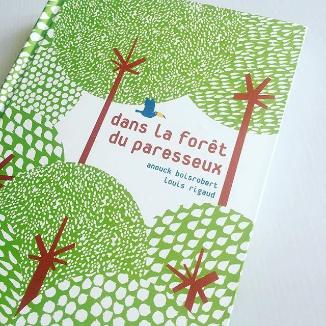 """アヌーク・ボアロベール&ルイ・リゴーのしかけ絵本""""Dans la forêt du paresseux''(邦題「ナマケモノのいる森で」#しかけ絵本#ポップアップ絵本 #フランス人アーティスト#アヌーク・ボアロベール&ルイ・リゴー"""