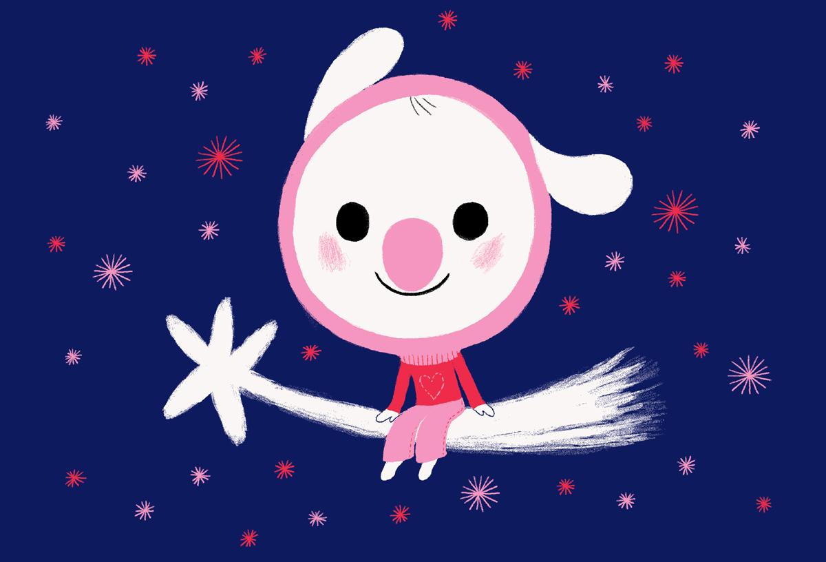 このキャラクターかわいいと思いませんか? ブタヴァンって感じしませんか? 2003年のクリスマスカードです。