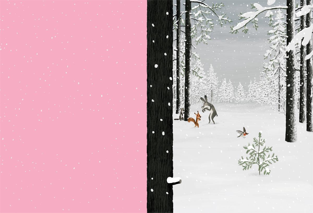フランスの女性誌 Vivitのページになりました。 透明感のある雪景色です。